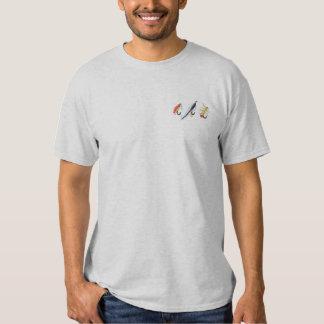 T-shirt Brodé Pêche des mouches