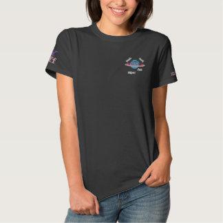 T-shirt Brodé Pièce en t brodée par M13 en pastel de planète de