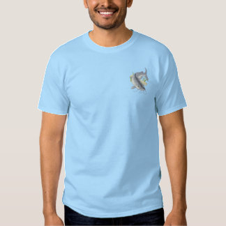 T-shirt Brodé Poisson-chat de la Manche