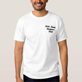 T-shirt Brodé Premier club de campeurs de côte