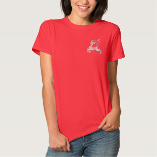T-shirt Brodé Renne argenté