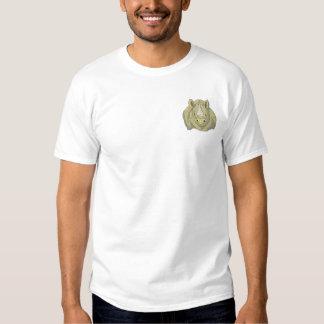 T-shirt Brodé Rhinocéros noir