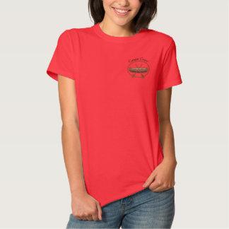 T-shirt Brodé Sports aquatiques de canoë-kayak d'équipage de