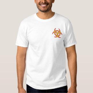 T-shirt Brodé Symbole de Biohazard