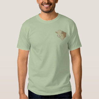 T-shirt Brodé Tête de Hereford Taureau