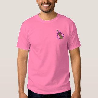 T-shirt Brodé Violon avec le ruban