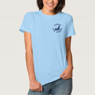T-shirt Brodé Zodiaque dans la Vierge