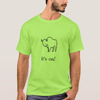 T-shirt buffle, il est allumé !