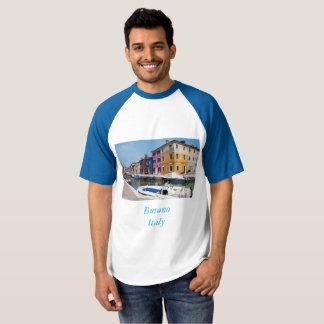 T-shirt Burano a coloré des maisons