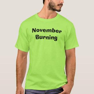 T-shirt Burning de novembre