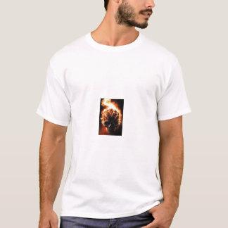 T-shirt burning_skull