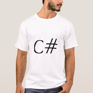 T-shirt C#. Filet