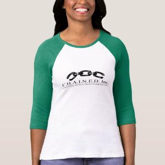 T-shirt C.H.A.I.N.E.D. Inc. Pièce en t du base-ball des