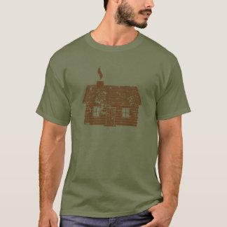 T-shirt Cabine de rondin | usé
