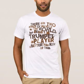 T-shirt Cadeau de la pièce en t de trompette de musique