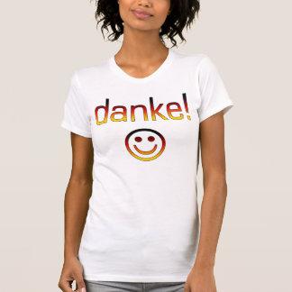 T-shirt Cadeaux allemands : Merci/Danke + Visage souriant