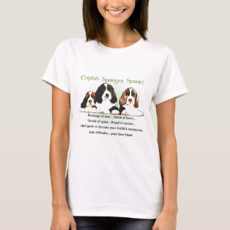 T-shirt Cadeaux d'épagneul de springer anglais