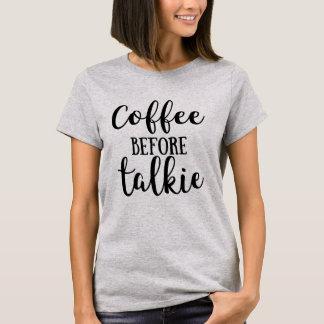 T-shirt Café avant film parlant