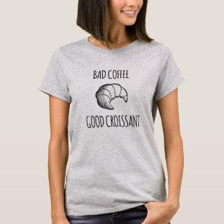 T-shirt Café gâté/bonne chemise de croissant