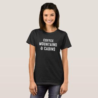 T-shirt Café, montagnes et cabines