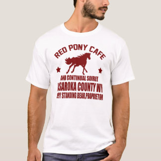 T-SHIRT CAFÉ ROUGE DE PONEY ET SOIREE CONTINUEL