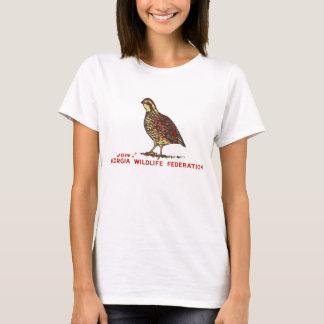 T-shirt Cailles de fédération de faune de la Géorgie
