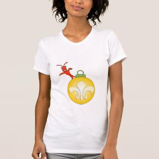 T-shirt Cajun mignon Crawfish Fleur de Lis Noel