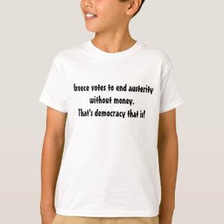 T-shirt Câlinez la puissance de la démocratie