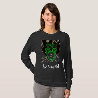 T-shirt CALME de SÉJOUR de HALLOWEEN ET EFFRAYANT SUR la