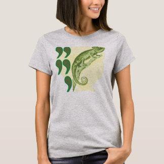 T-shirt Caméléon de virgule de virgule