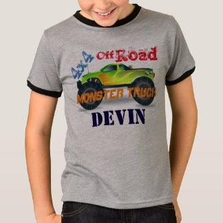 T-shirt Camion de monstre 4x4 vert personnalisé