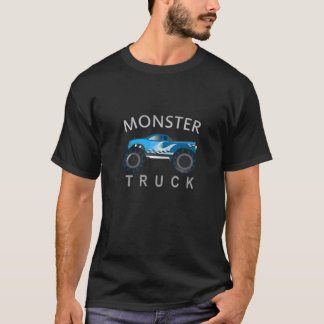 T-shirt Camion de monstre bleu frais