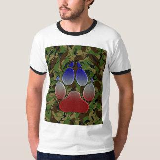 T-shirt Camo britannique avec Union Jack a coloré la patte