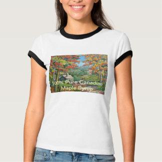 T-shirt canadien de dames de sirop d'érable