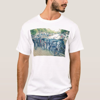 T-shirt Canal et bicyclettes d'Amsterdam
