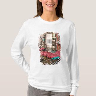 T-shirt Canal grand de Venise Italie avec des bateaux de