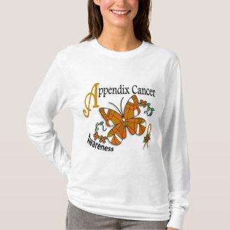 T-shirt Cancer d'annexe du papillon 2 en verre souillé