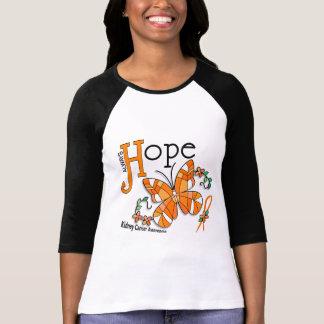 T-shirt Cancer de rein de papillon en verre souillé