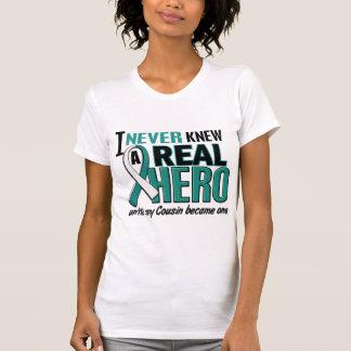 T-shirt Cancer du col de l'utérus de vrai cousin de héros