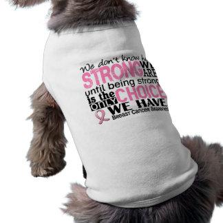 T-shirt Cancer du sein comme nous forts sommes
