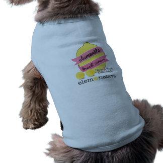 T-shirt Cancer du sein d'élément - pour des chiens bleus