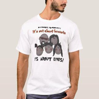 T-shirt Cancer du sein noir de famille