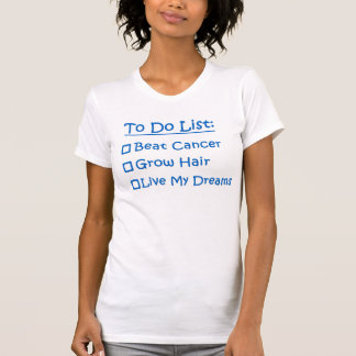 T-shirt Cancer pour faire la liste