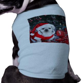 T-shirt Caniche père Noël - chien de Noël - chien du père
