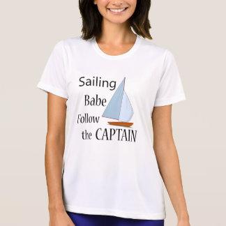 T-shirt Capitaine de bébé de navigation
