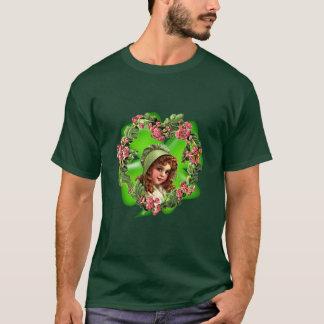 T-shirt CAPOT et SHAMROCK VERTS par SHARON SHARPE
