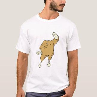 T-shirt caractère superbe de nourriture de poulet de super