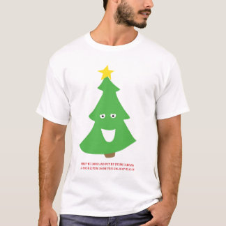T-shirt Carcasse d'arbre de Noël