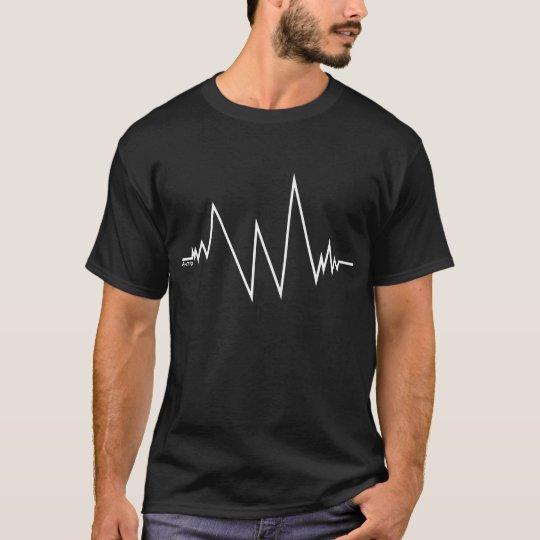 T-Shirt cardiogramme blanc