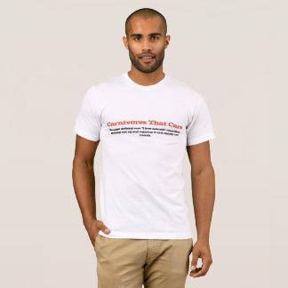 T-shirt Carnivores qui s'inquiètent la chemise d'amour